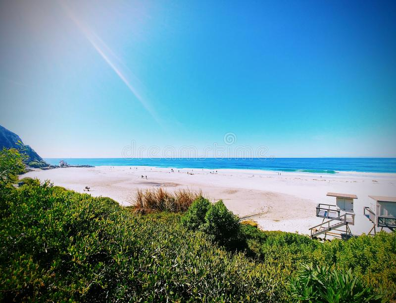 Bella vista di oceano in Laguna Beach immagini stock