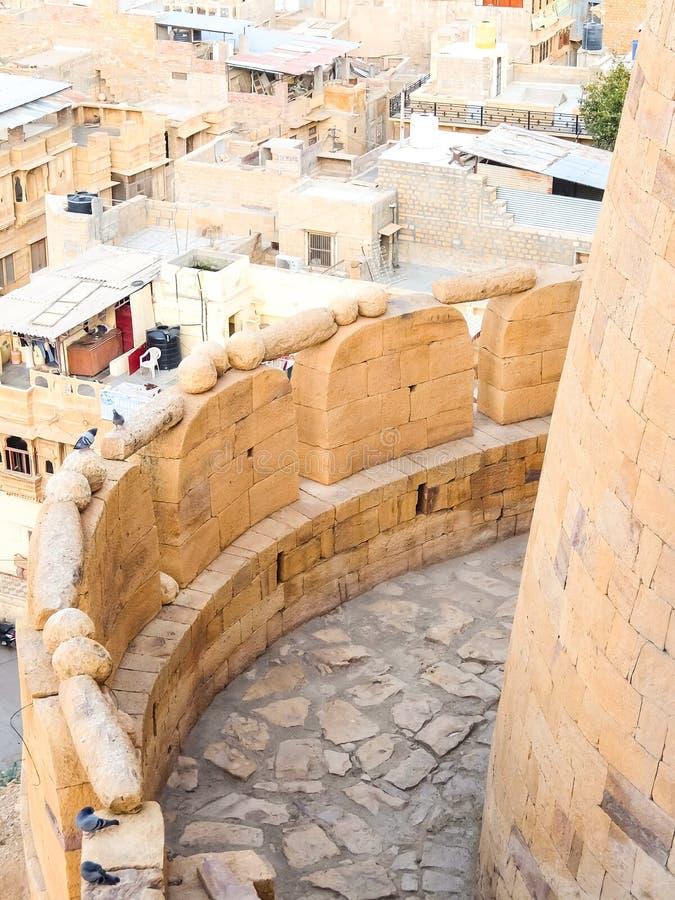 Bella vista di paesaggio urbano di Jaisalmer immagini stock