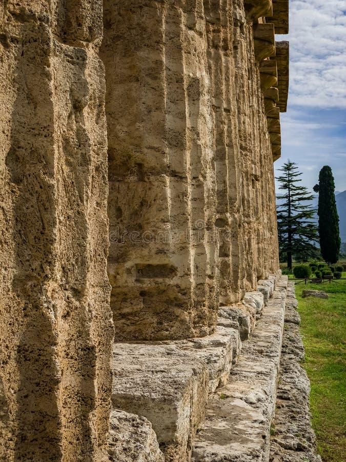Bella vista di Paestum Italia fotografia stock libera da diritti