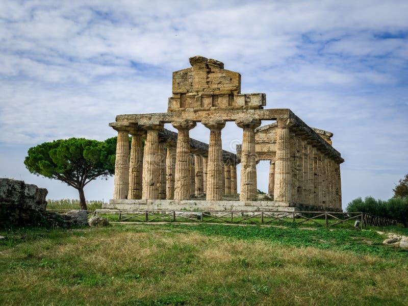 Bella vista di Paestum Italia fotografie stock libere da diritti