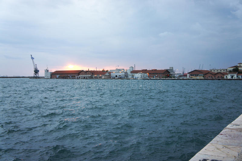 Bella vista di Salonicco, Chalkidiki fotografia stock