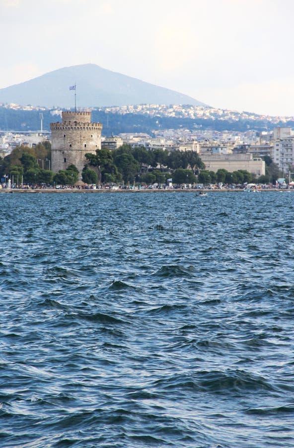 Bella vista di Salonicco, Chalkidiki fotografie stock libere da diritti