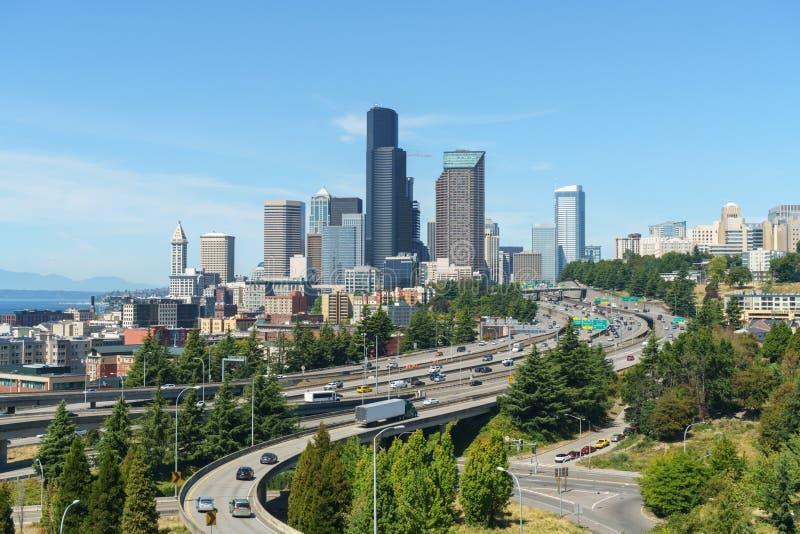 Bella vista di Seattle del centro immagini stock