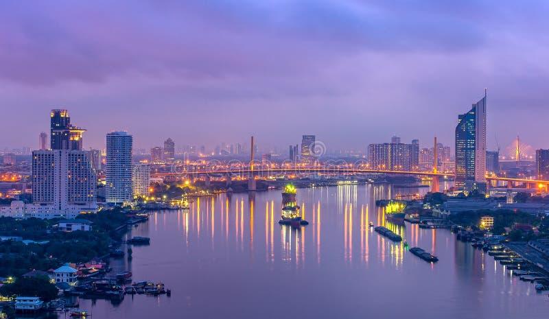 Bella vista di tramonto fotografia stock