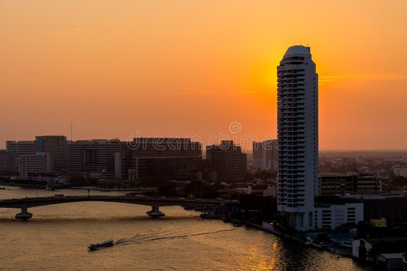 Bella vista di tramonto, Tailandia fotografie stock libere da diritti