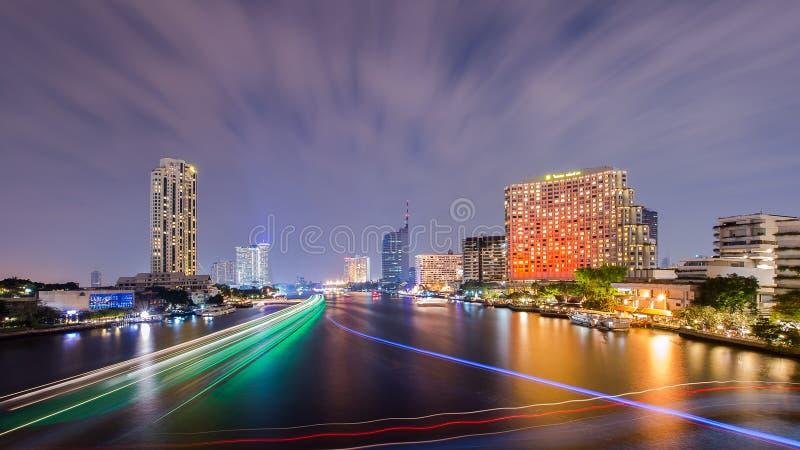 Bella vista di tramonto, Tailandia immagine stock