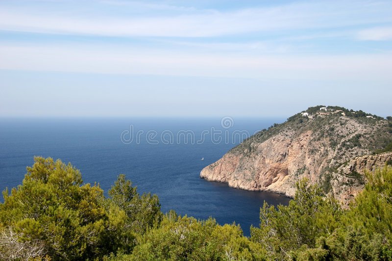 Bella vista in Ibiza fotografie stock