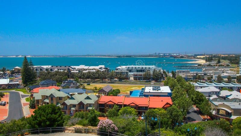 Bella vista sopra Bunbury in Australia occidentale un giorno di estate soleggiato fotografie stock