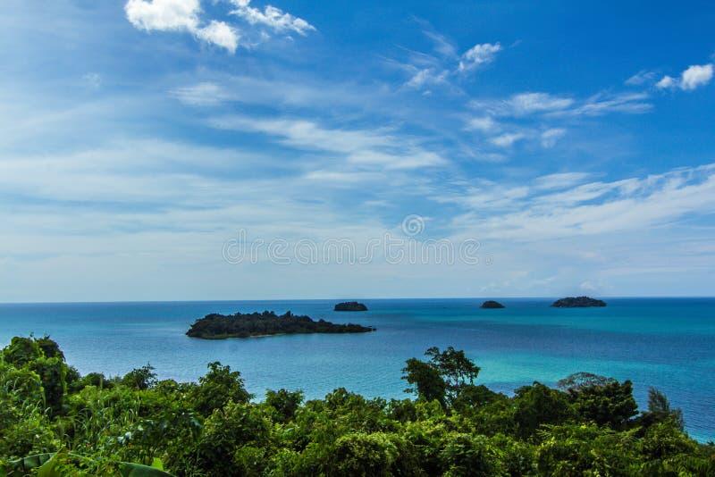 Bella vista su Koh Chang, Tailandia immagini stock