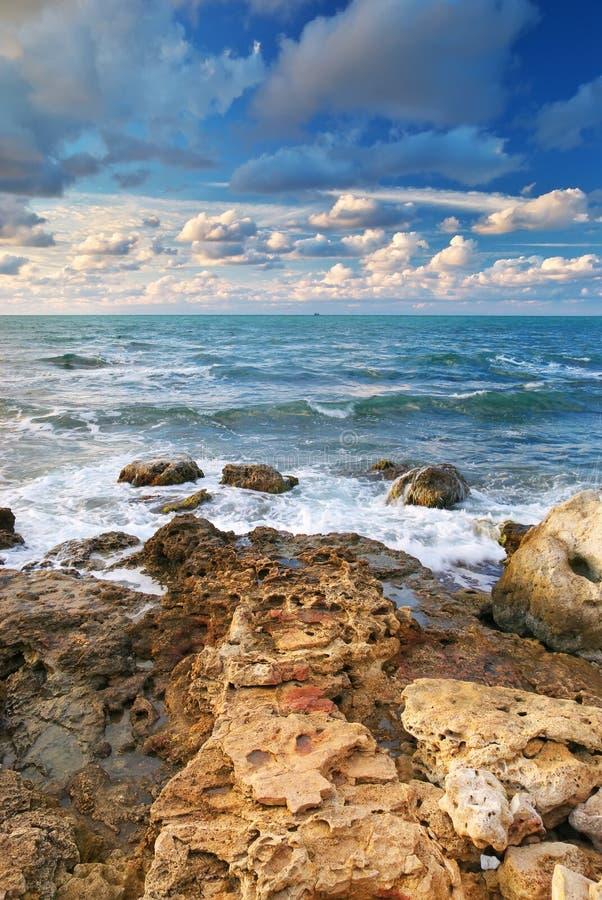 Bella vista sul mare. fotografia stock