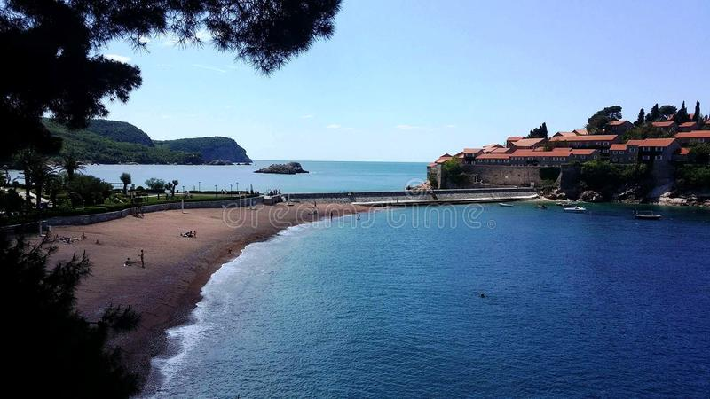 Bella vista sul mare adriatico immagini stock libere da diritti