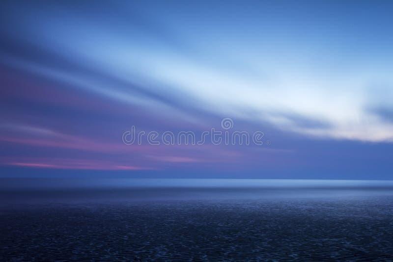 Bella vista sul mare Colourful fotografia stock