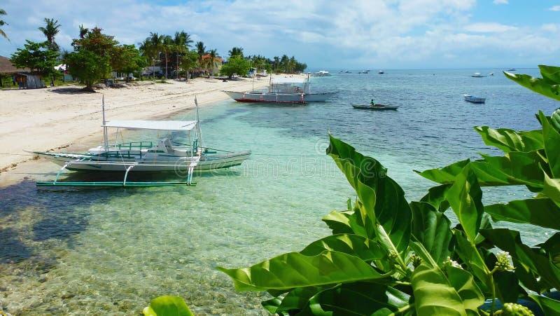 Bella vista sulla costa dell'isola, isola Filippine di Malapascua fotografia stock libera da diritti
