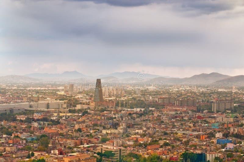 Bella vista superiore di Messico City, Messico fotografia stock libera da diritti