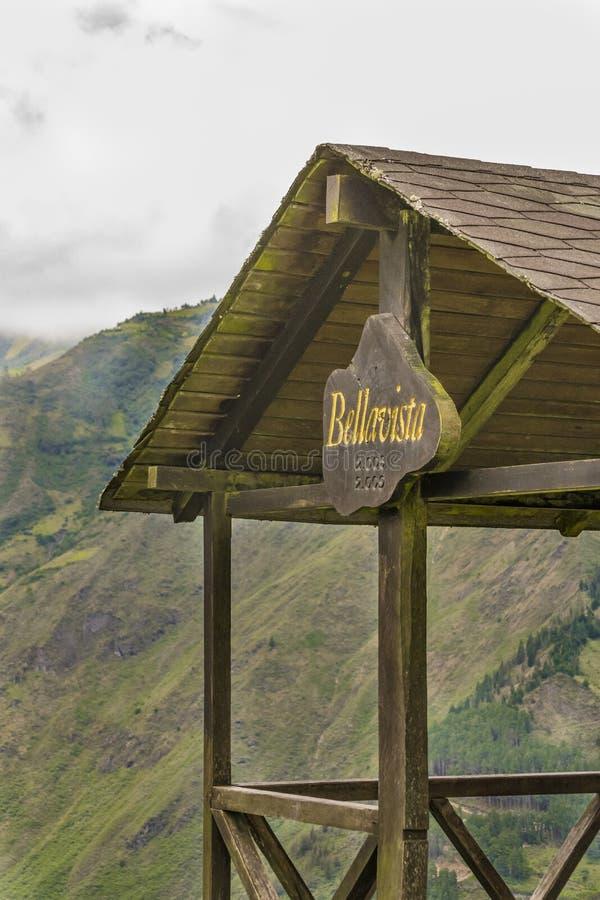 Bella Vista Viewpoint in Banos Ecuador lizenzfreie stockfotografie