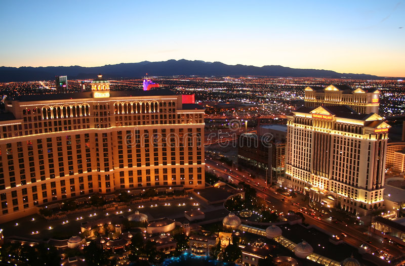 Download Bellagio And Caesar's Palace Casinos Editorial Stock Image - Image: 5776364