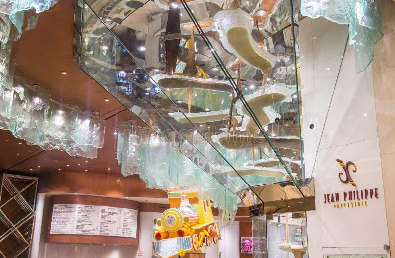 Bellagio chokladspringbrunn fotografering för bildbyråer