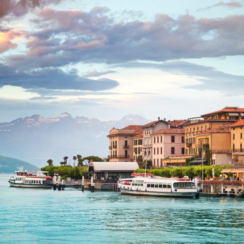 Bellagio Como sjö arkivbild
