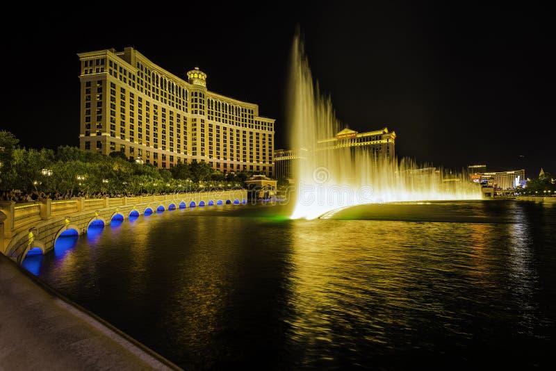 Bellagio, exposition de l'eau, Las Vegas photo stock