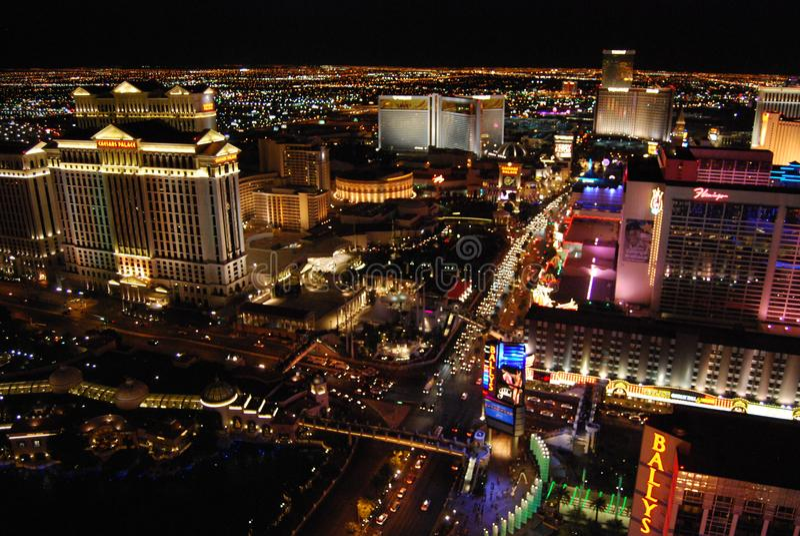 Bellagio Hotel en Casino, de de Strook, Westgate-Toevlucht van Las Vegas & het Casino, Bellagio, Onthaal aan het teken van Las Ve royalty-vrije stock foto