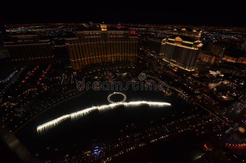 Bellagio, Bellagio hotel i kasyno, struktura, noc, metropolia, sporta miejsce wydarzenia zdjęcie stock