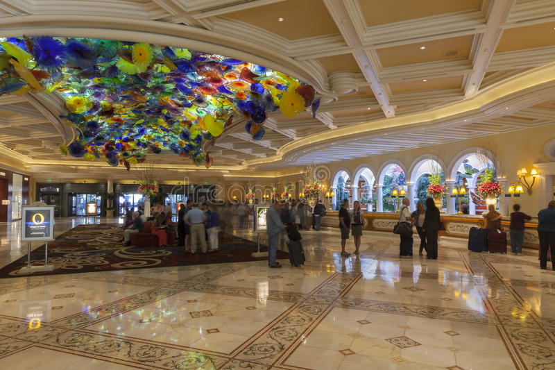 Bellagio Hotel and Casino lobby ceiling glass decor Stock ... |Las Vegas Bellagio Hotel Lobby