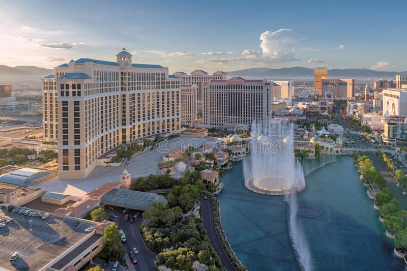 Bellagio hotell och kasino i Las Vegas, USA royaltyfria bilder