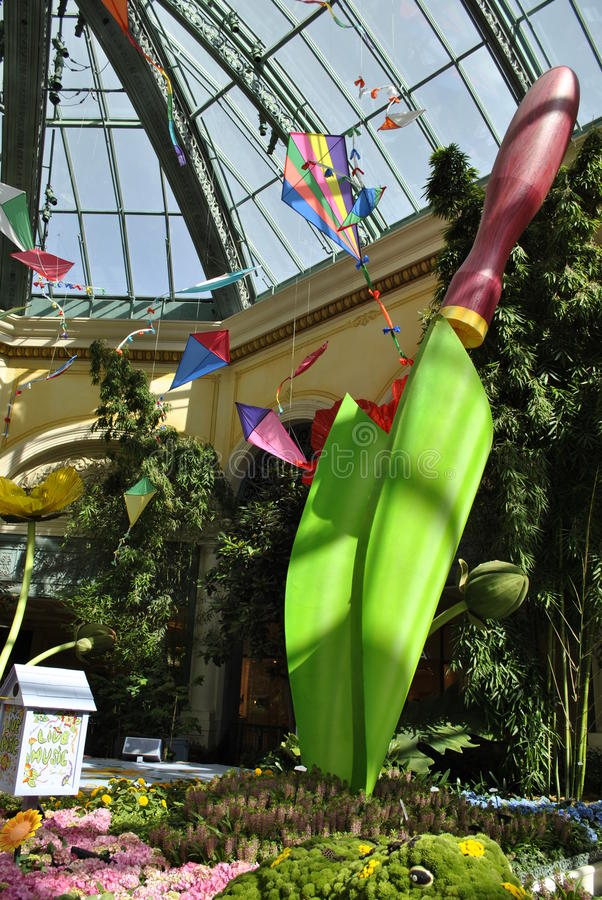BELLAGIO HOTELLLOBBY royaltyfria bilder