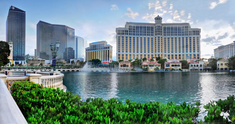 Bellagio kurort, Jeziorne fontanny, Las Vegas obraz royalty free