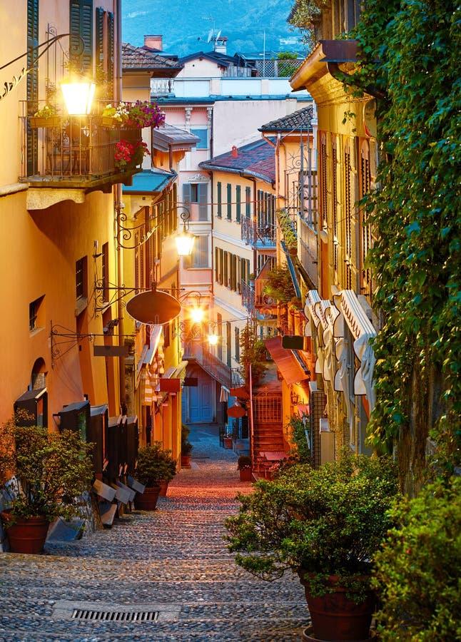 Bellagio at lake Como near Milan Italy. royalty free stock photos