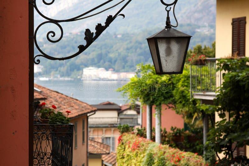 Bellagio latarnia uliczna fotografia stock