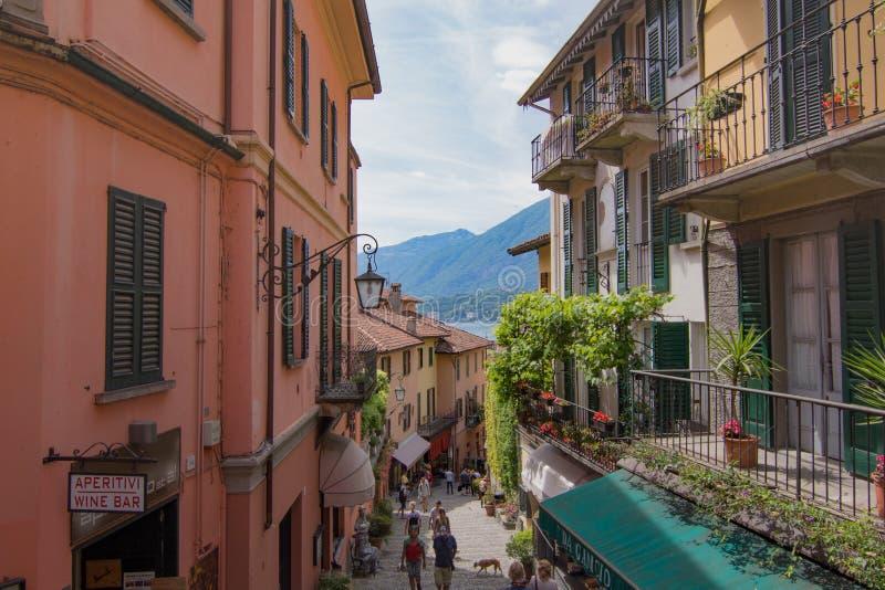 Bellagio, Lombardia, Italië stock afbeelding