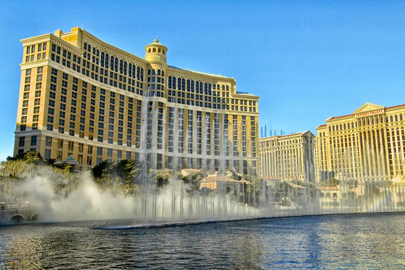 Bellagio luxury resort hotel Las Vegas Nevada royalty free stock photography