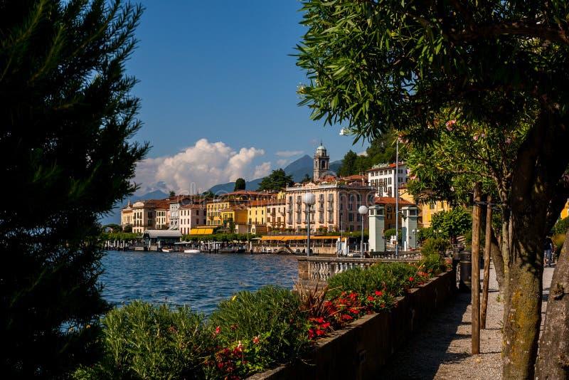 Bellagio nadjeziorny deptak obrazy royalty free