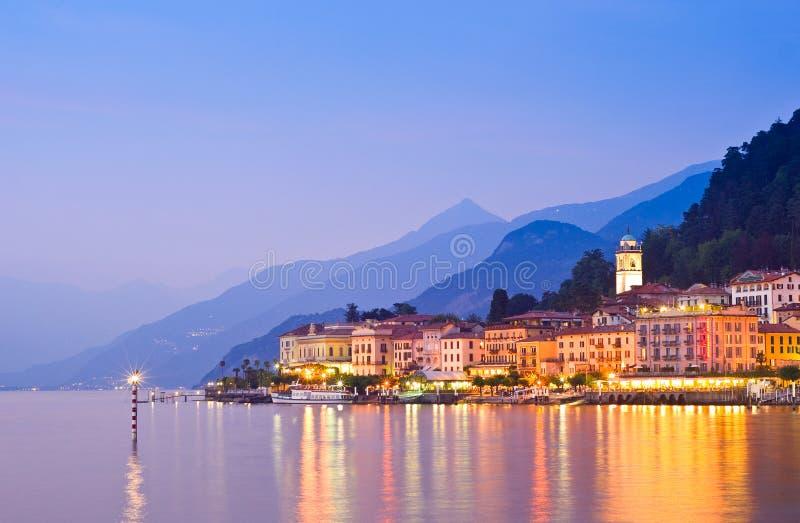 Bellagio på sjön Como i Italien arkivfoton