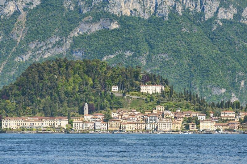 Bellagio y lago del como imagen de archivo