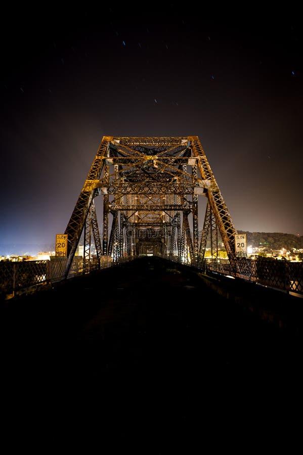 Bellaire-Brücke - der Ohio stockbild