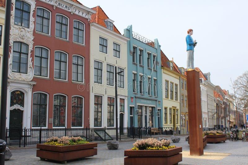 Bellamy parkerar, Vlissingen, Nederländerna royaltyfri foto