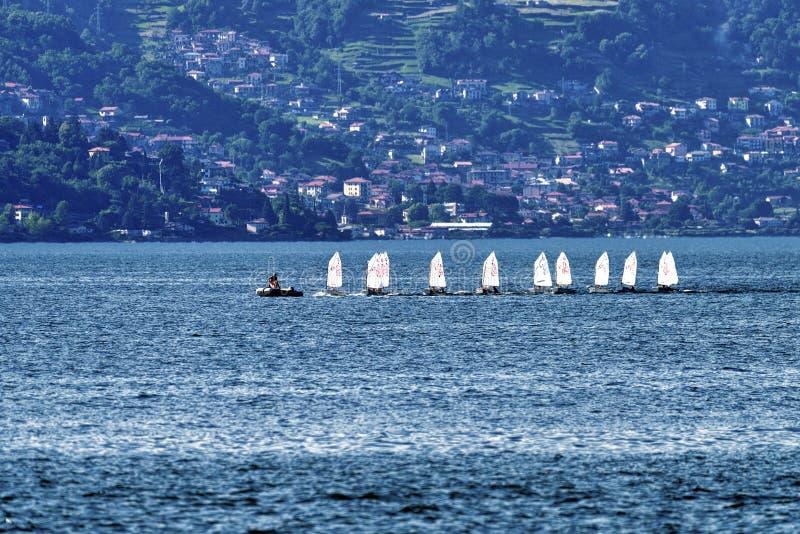 Bellano e o lago Como imagens de stock royalty free