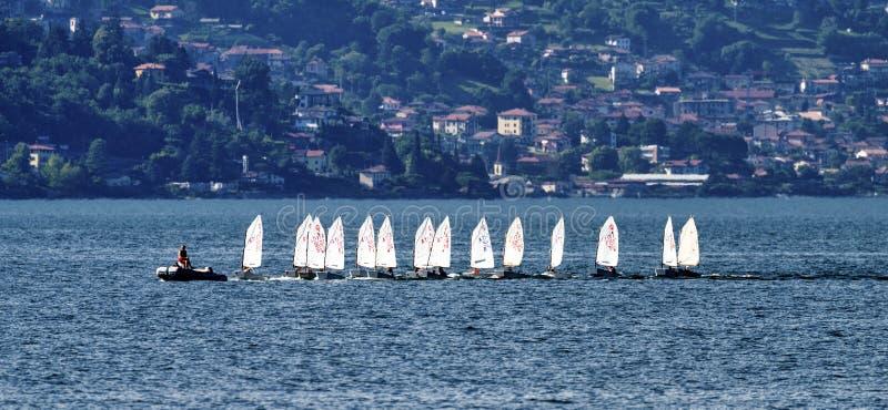 Bellano e o lago Como fotos de stock royalty free