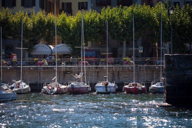 Bellano no lago Como, Itália imagem de stock royalty free
