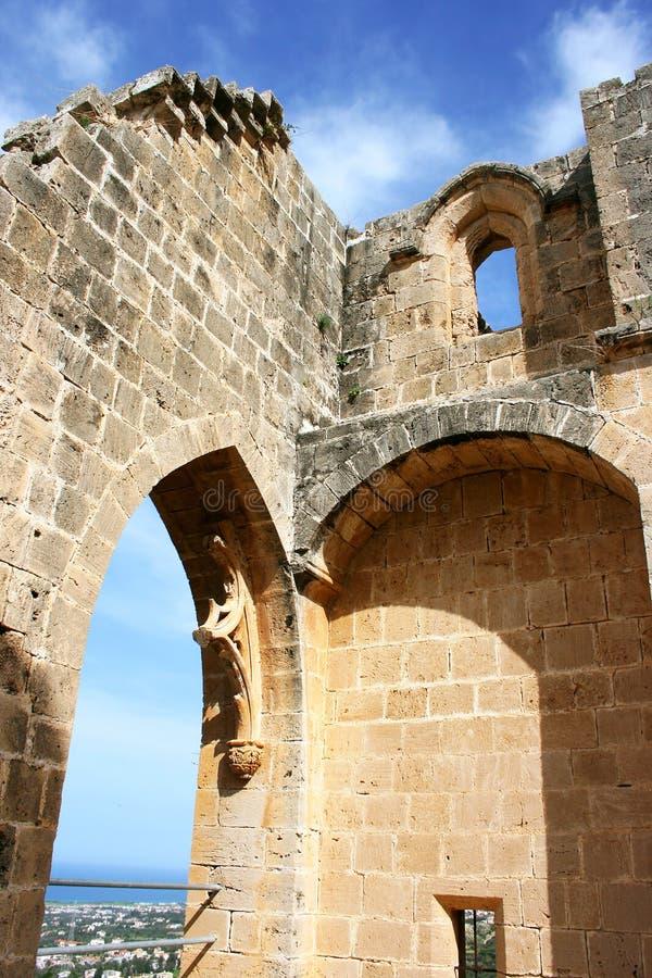 Bellapais abbey stock images