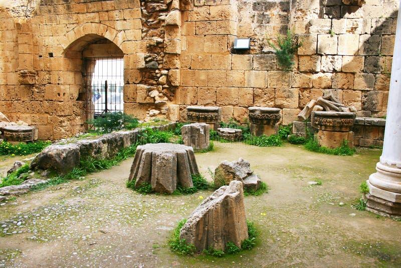 Bellapais abbey stock photo