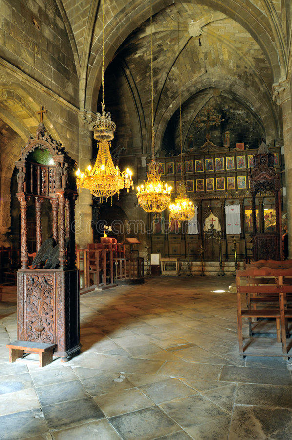 Bellapais Abbey, Kyrenia royalty free stock photos