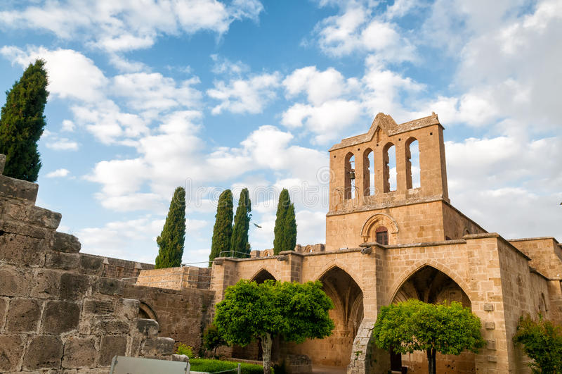 Bellapais Abbey. Kyrenia, Cyprus. Medieval Bellapais Abbey. Kyrenia, Cyprus stock photos