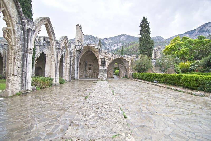 Bellapais Abbey in Northern Cyprus - Bellapais monastery stock photos