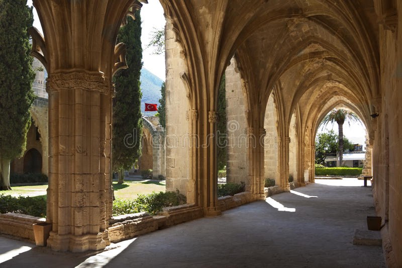 Bellapais Abbey - Turkish Cyprus stock photo