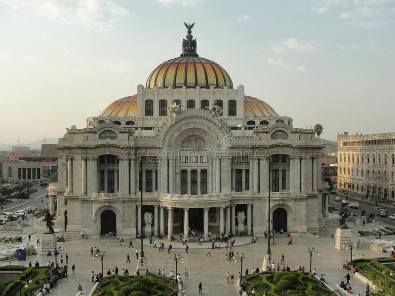 Bellas Artes Mexico-City stock afbeelding