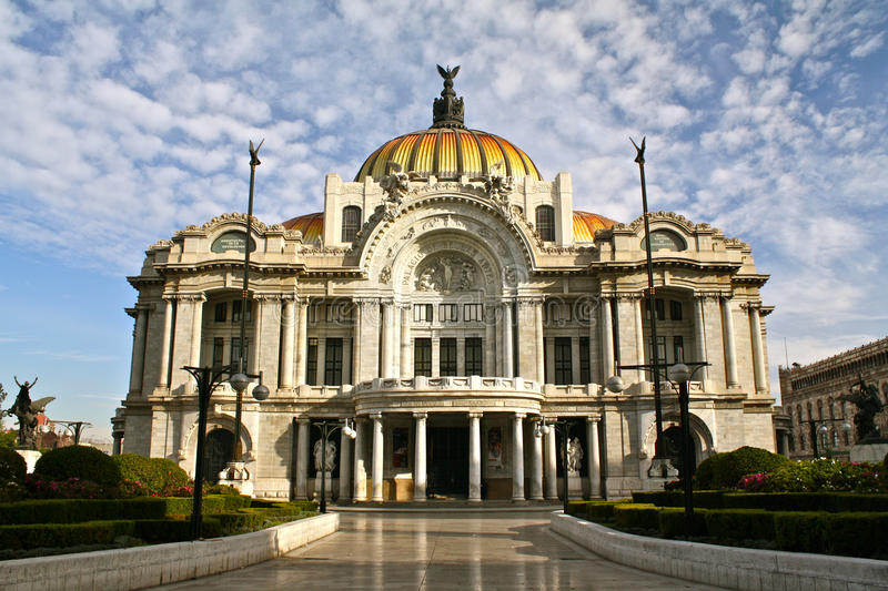 Bellas Artes Palace, Mexico City. Bellas Artes Palace in the historical part of Mexico City stock photo