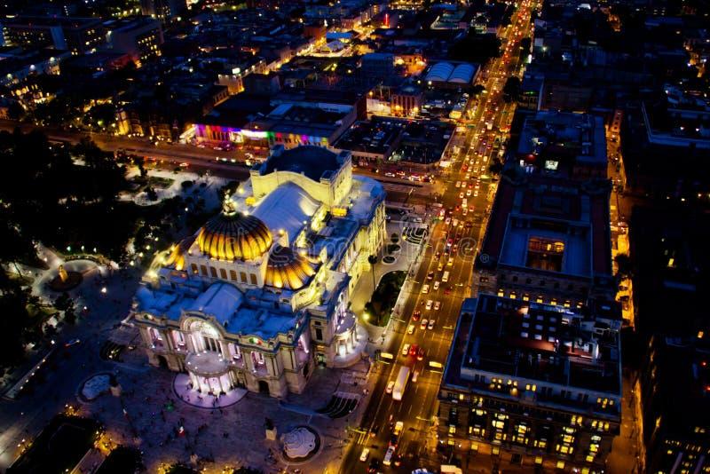 Bellas artes palace at night time. stock photos